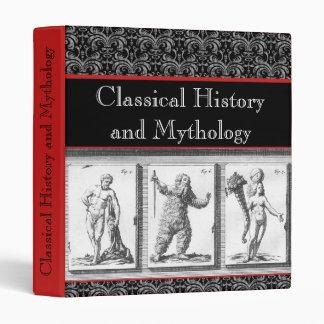 Carpeta clásica del cuaderno de la mitología de
