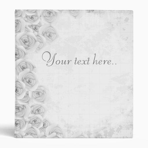 Carpeta color de rosa antigua blanco y negro