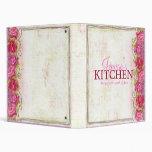 Carpeta color de rosa de la receta del bordado