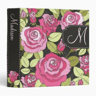 Carpeta color de rosa decorativa con el texto de e
