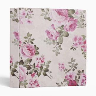 Carpeta color de rosa floral de la cabaña elegante