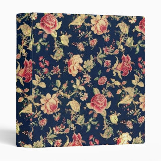 Carpeta color de rosa floral del vintage elegante