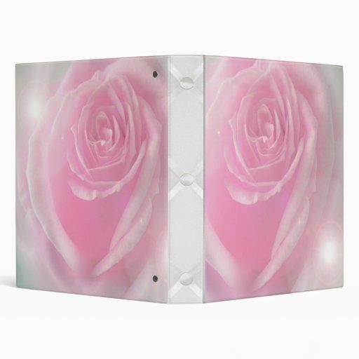 Carpeta color de rosa rosada