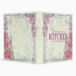 Carpeta color de rosa rosada de la receta