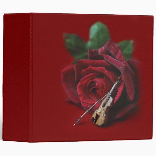 Carpeta color de rosa y del violín