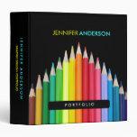 Carpeta coloreada de la cartera de los lápices