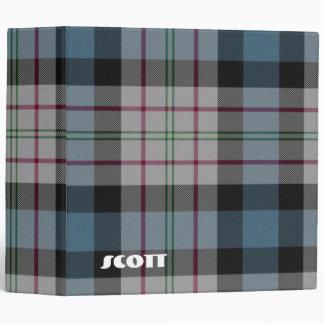 Carpeta colorida de la escuela de la tela escocesa
