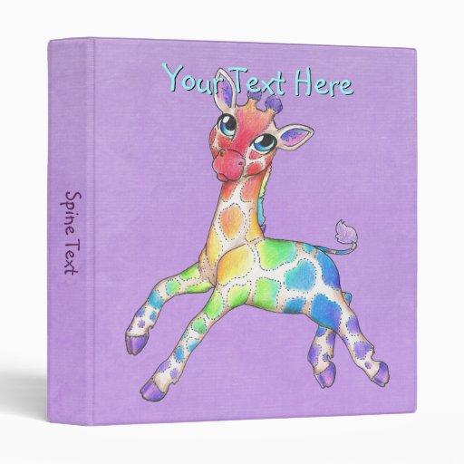 Carpeta colorida de la jirafa