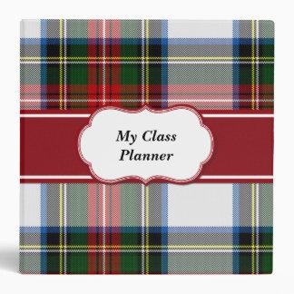 Carpeta colorida de la tela escocesa de tartán de
