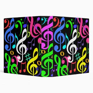 Carpeta colorida de las notas musicales