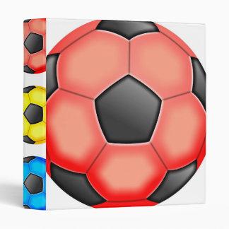 Carpeta colorida de los balones de fútbol