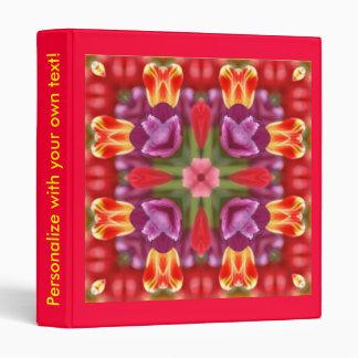 Carpeta colorida de los tulipanes