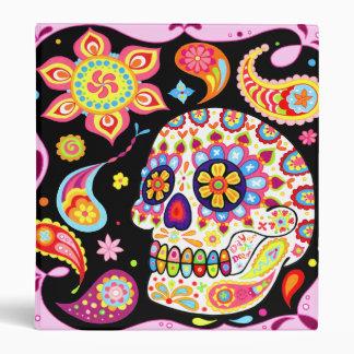 Carpeta colorida del cráneo del azúcar