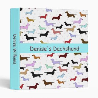 Carpeta colorida del Dachshund