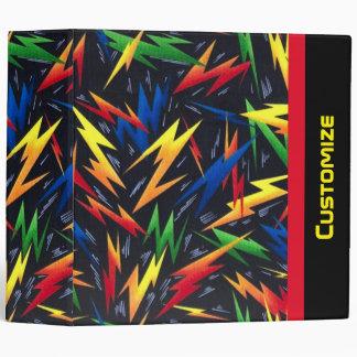 Carpeta colorida del modelo de los rayos