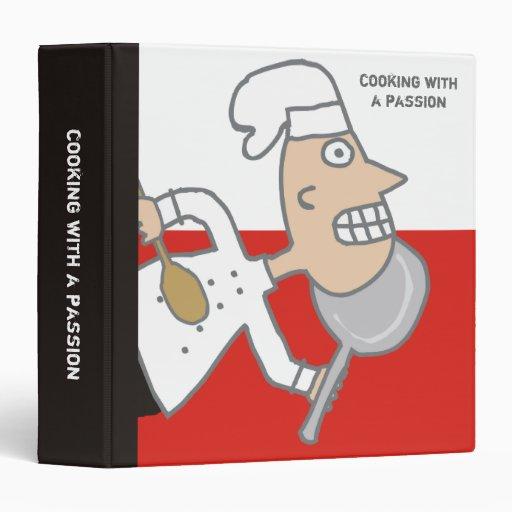 carpeta cómica del libro de cocina de la receta