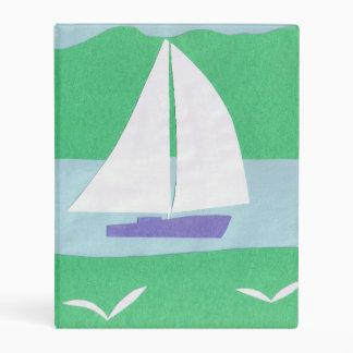Carpeta con diseño del velero mini carpeta