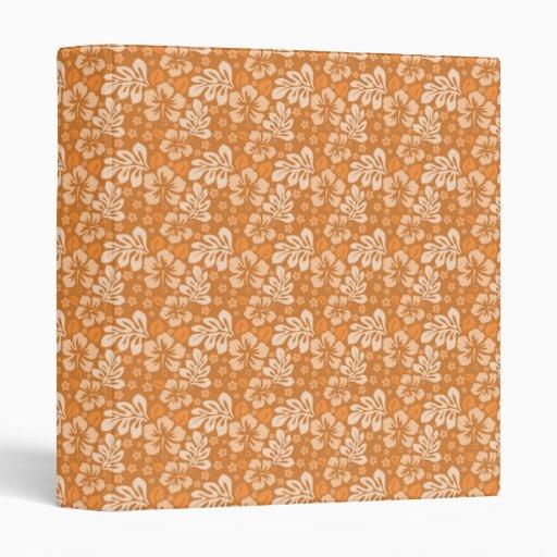 Carpeta con diseño floral anaranjado