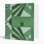 Carpeta con diseño verde del art déco