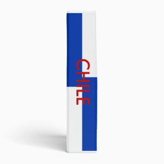 Carpeta con la bandera de Chile