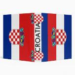 Carpeta con la bandera de Croacia