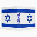 Carpeta con la bandera de Israel