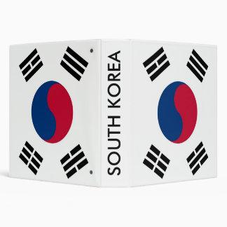 Carpeta con la bandera de la Corea del Sur