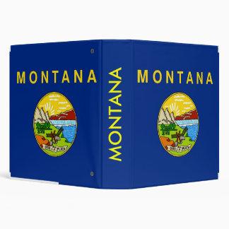 Carpeta con la bandera de Montana, los E.E.U.U.
