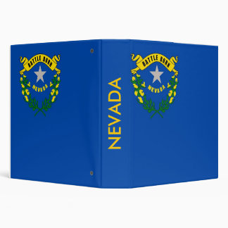 Carpeta con la bandera de Nevada, los E.E.U.U.