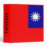 Carpeta con la bandera de Taiwán