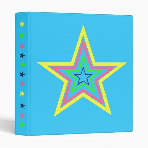 Carpeta con las estrellas coloreadas multi