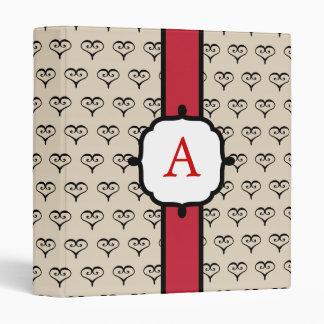 Carpeta con monograma elegante del corazón