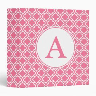 Carpeta con monograma rosada