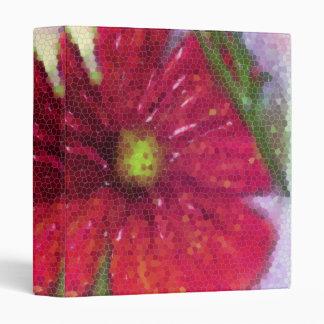 Carpeta con una flor roja pintada