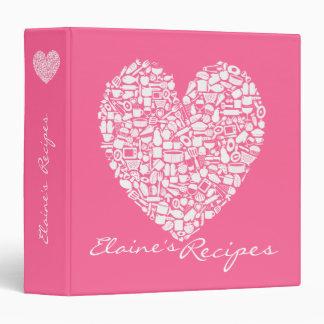 Carpeta conocida personalizada cocina rosada de la