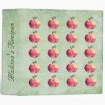 Carpeta conocida personalizada manzanas rojas de l