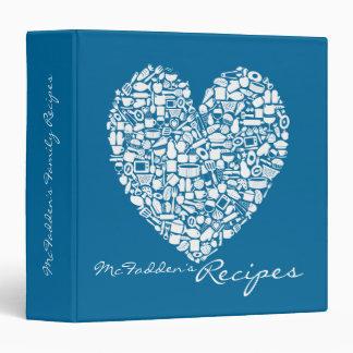 Carpeta conocida personalizada receta azul del cor
