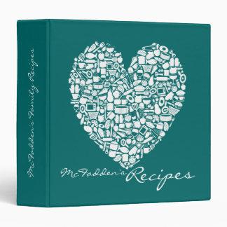 Carpeta conocida personalizada receta del corazón