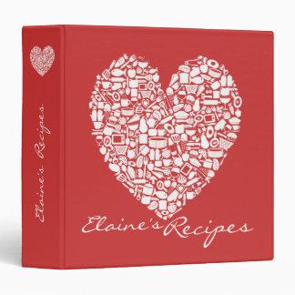 Carpeta conocida personalizada receta roja del cor