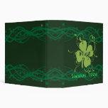 Carpeta/cuaderno de los tréboles de Irlanda