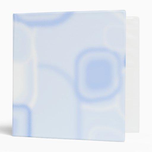 Carpeta cuadrada azul abstracta