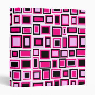 Carpeta cuadrada rosada de la inspiración