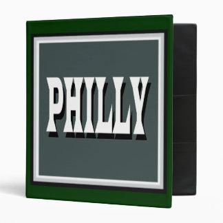 Carpeta cuadrada verde de Philly