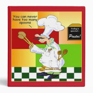 Carpeta culinaria de la receta de la escuela