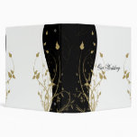Carpeta curvada floral del oro
