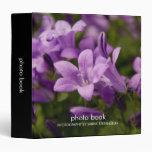 Carpeta dálmata púrpura del libro de la foto de lo