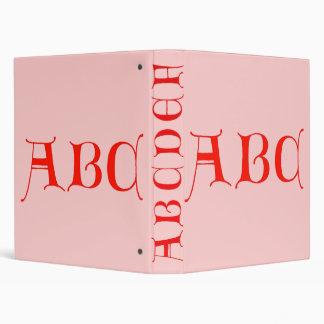 Carpeta de ABC de las letras