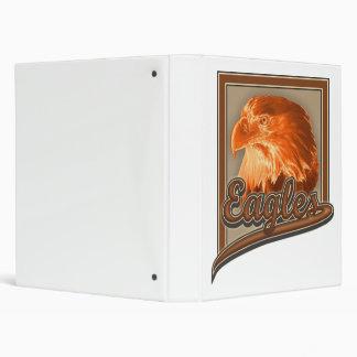 Carpeta de anillo 3 con Eagle calvo en diseño de