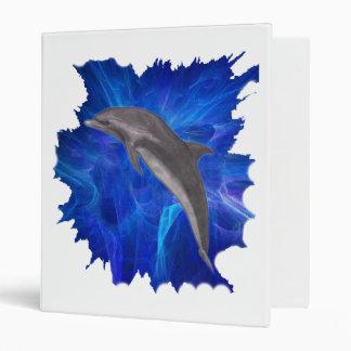 Carpeta de anillo azul del fondo del delfín