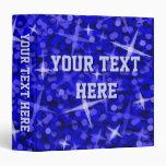 """Carpeta de anillo azul marino de """"su texto"""" del Gl"""